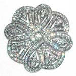 Womens accessory jewelry wear wholesale shopping. Imitation diamonds  in celtic style designed brooch