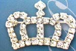 Crystal fashion wear wholesale distrbution. Crown designed fashion brooch inlaid with circular and square shaped cz gems